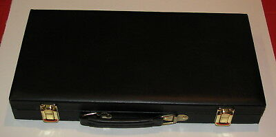 Poker Chip Black Leather Case Only - Combined Shipping