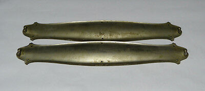 Large Scale Pair of Nickel Plated Cast Brass Push Plates Swinging Door