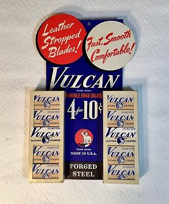 Vintage NOS Store Display for Vulcan Razor Blades - Advertising