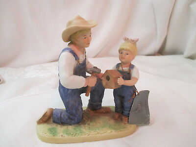 Vintage 1985 Homco Denim Days Figurine Debbie's Dad #1515