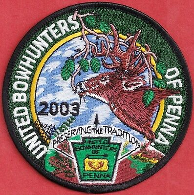 Pa Pennsylvania Fish Game Commission Related 2003 Deer United Bowhunters Patch