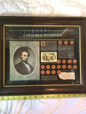 lincoln penny set. New York Historical Society memorial to Lincoln. 19 coins
