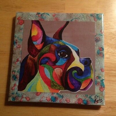 """One of a Kind Boxer 6""""x6"""" Ceramic Tile!"""