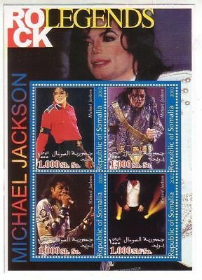 Michael Jackson Timbre Feuillet Lot Timbres SOMALIE Stamp Stamps Sheet Set 2002