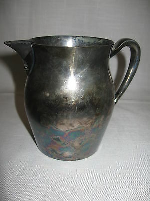 Poole Silver Co Silver Plate Creamer Personal  Pitcher 165 Ounces 1893-1971