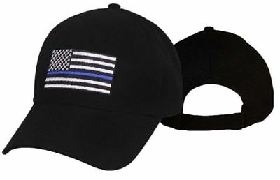 Thin Blue Line Flag Low Profile Police Baseball Cap Law Enforcement Hat 99885