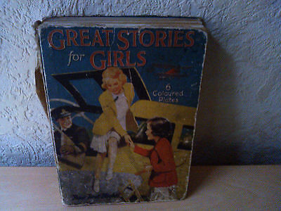 Vintage,Great Stories for Girls by Francis Cowen, Illustrated, 1st Edition,1920s