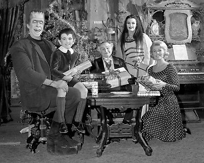 """the Munsters"" Cast From The Tv Show - 8X10 Christmas Publicity Photo (Op-991)"