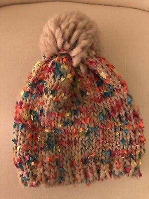 Girls Size 2T-4T ABG Accessories Multicolor Knit Hat /& Mitten Set New Nwt #10739