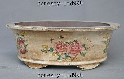 Chinese Yixing Zisha Pottery flowers butterfly Bonsai Potted plants Flower Pot