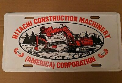 Hitachi Construction Machinery License Plate - New