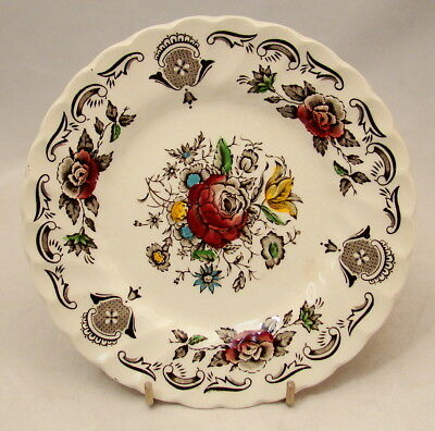 "Myott Staffordshire England BOUQUET Bread & Butter Plate(s) 6"" CRAZED"