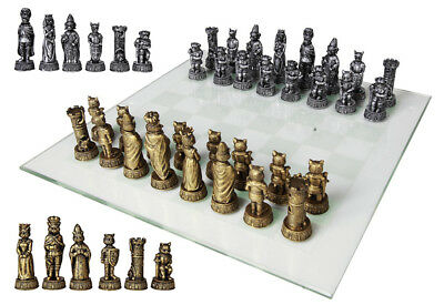 Feline Cats Versus Dogs Chess Set Resin Animal Pieces With Glass Board