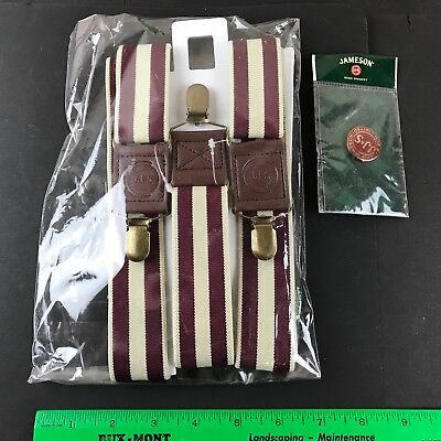 Jameson & Son Irish Whiskey Company Suspenders & Advertising Pin