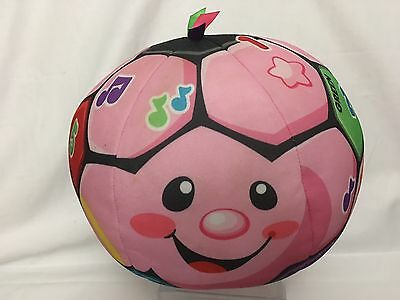 FISHER PRICE PINK GIRLS Laugh & Learn Musical Soccer Ball Toddler Plush Stuffed