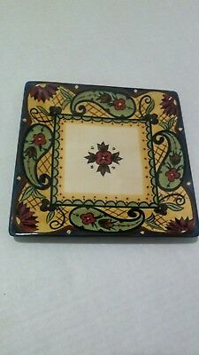 Corsica Home Crown Jewel Square Salad Plate 8.5 Inch