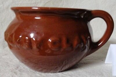 (B) Vintage DICKEY CLAY Brown Glazed Pottery Cup Mug with Handle