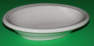 1945 SYRACUSE China OVAL Baker BOWL Double GREEN STRIPE Vintage Restaurant Ware