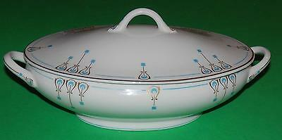 Vintage OPCO Syracuse China Art Deco Nouveau Covered Vegetable Bowl EXC NM COND