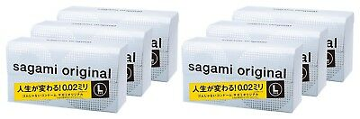 [ 1, 2~3~6 BOX Set Discount ] Sagami Condom 12pcs Large Size 002 0.02 Non Latex