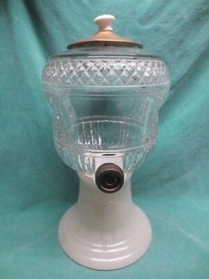 Scarce vtg HY-PO COUNTER-TOP SYRUP DISPENSER w/MILK GLASS BASE
