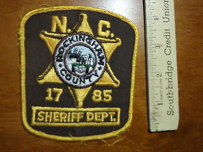 Rockingham County Sherff Department N.c.  Shoulder Patch Obsolete   Bx 4 #12