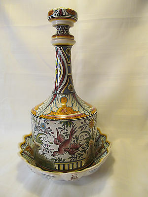 Conimbriga Portugal Vintage Hand Painted Decanter/Bowl Signed Numbered REDUCED!