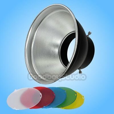 "7"" Studio Standard Reflector Universal Mount with SN-518 5 Color Filter Gel Set"