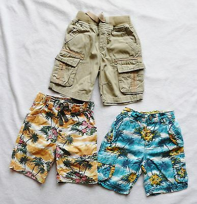 NEXT baby boy summer bundle 3 x shorts floral military hawaii style 18-24 months