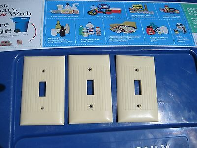 Vintage * SIERRA ELECTRIC * 1-Gang Toggle Switch Wall Plate Set of 3