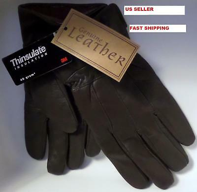 Thinsulate genuine leather men's gloves