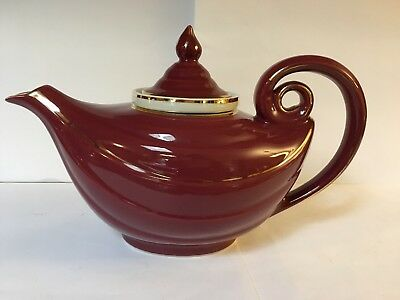 Aladdin's lamp Hall teapot Hall Maroon with gold accent