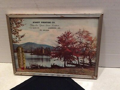 Vintage framed advertising picture/thermometer-Anderson, Indiana