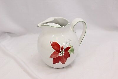 Block Bernarda Spal Poinsettia Pitcher 7.5""