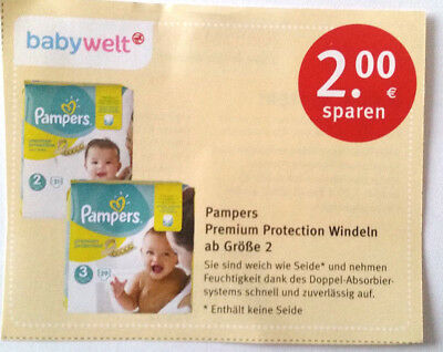 Pampers coupon 3 euro