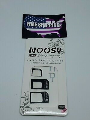 Nano to Micro/Standard SIM Card Adapter Converter for phones with SIM card.white