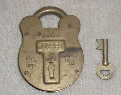 Vintage Jared Admiralty Old English #8 Solid Brass Padlock/james Bond 007