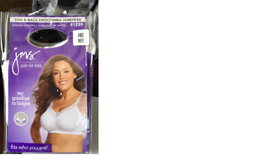 Just My Size Wirefree Bra Size 44 C # 1259 - Side & Back Smoothing - New In Pack
