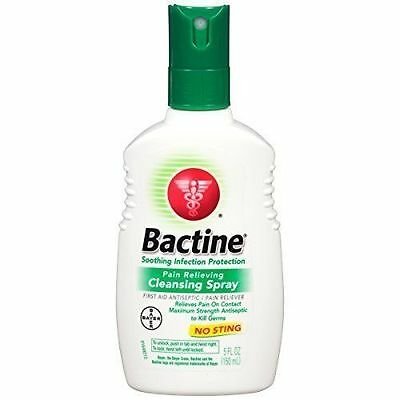 Bactine First Aid Spray or Antiseptic/Pain Reliever Original Liquid