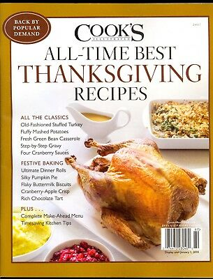 Cook's Illustrated All-Time Best Thanksgiving Recipes 2017