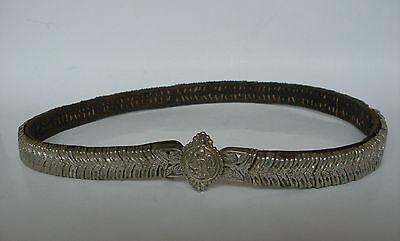 Antique 18c. Handmade Silver Belt. Ottoman Empire, Greek and Balkans. Scars.