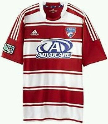 buy online a27fd a8d82 New Mens small Adidas FC Dallas Advocare MLS Soccer Jersey climacool