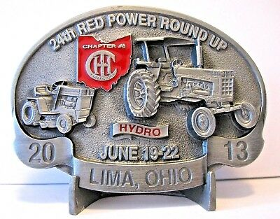 IH International IHCC Red Power Round UP 2013 HYDRO 100 Tractor Cub Belt Buckle