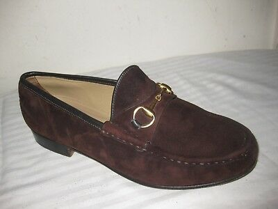 1684db79c68 GUCCI HORSEBIT SUEDE Loafers Shoes Women s Size 7B -  139.99