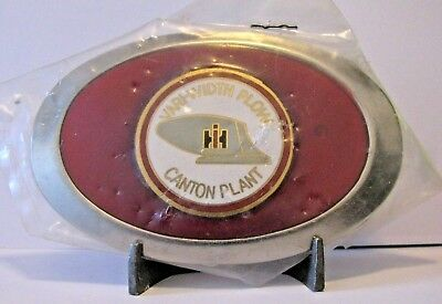 IH International Harvester Canton IL Plant Vari-Width Plow Bottom Belt Buckle
