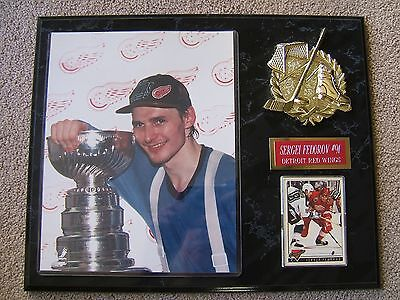 Detroit Red Wings - Sergei Fedorov - Vintage Collector's Plaque - Excellent Cond