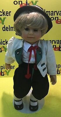 "Vintage 18"" Angel Buppe German Doll with Stand Soft Body"