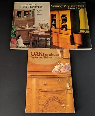 Lot of 3 Vintage 80s Oak & Pine Furniture Styles and Price Guides by Swedberg