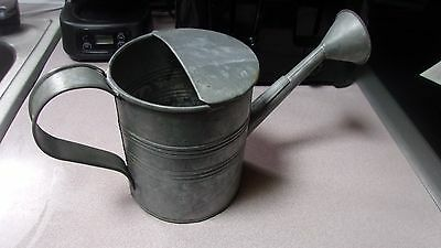 Vintage Small Size Decorative Galvanized Metal Gardener's Water Can