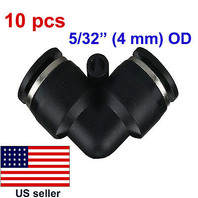 """10 pcs OD 5/32"""" (4 mm) Pneumatic Quick Plastic Push-to-connect Elbow (03-005)"""